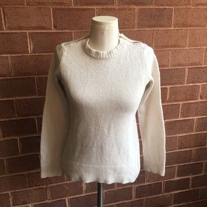 J. Crew Cream Wool Blend Sweater with Zippers
